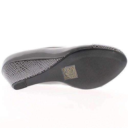 Offset grigio tacco alto 6,5 cm