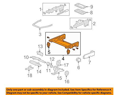 Genuine Honda 81690-SHJ-A02 Left Middle Seat Riser Assembly