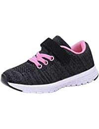 Girls Flyknit Sneakers Comfort Running Shoes(Toddler/Kids)