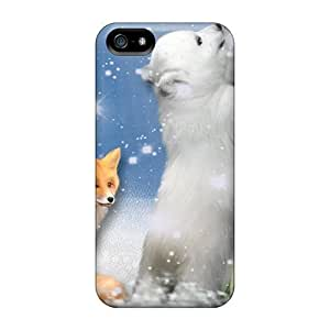 AlexandraWiebe Shockproof Curious Polar Bear Hard For Ipod Touch 5 Phone Case Cover