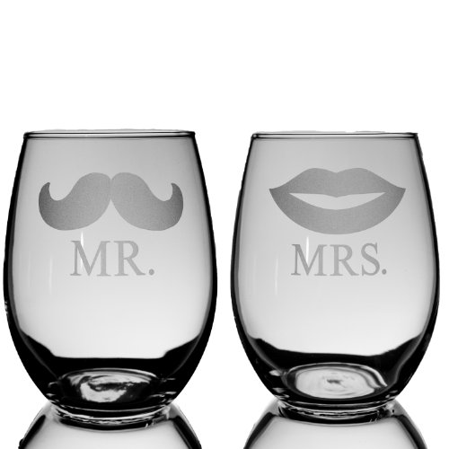 21oz-Stemless-Mr-and-Mrs-Stemless-Wine-Glasses-Set-of-2-Glasses