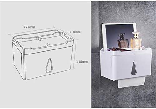 ウォールマウントトイレットペーパーホルダー、防水多機能トイレットペーパーボックス、ペーパータオル用高容量収納防塵ホルダー耐久性ペーパータオルホルダー