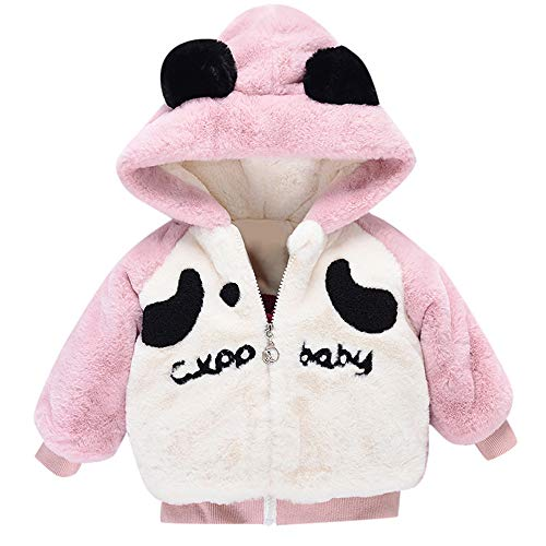 Newborn Winter Warm Coat,Jchen(TM) Fashion Baby Infant Boy Autumn Cute Cartoon Ear Hooded Thick Warm Coat Cloak Jacket for 0-24 Months (Age: 0-6 Months, Pink) by Jchen Baby Coat