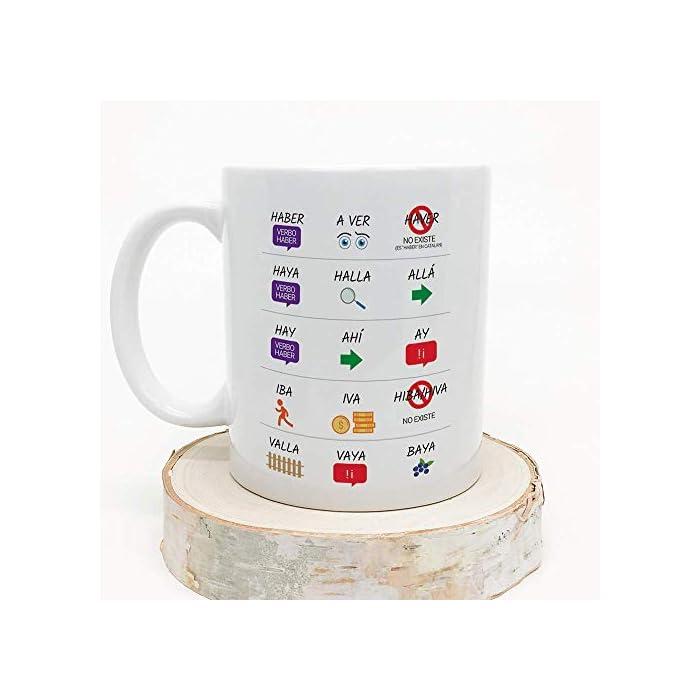 """41f8ZUIVjRL ☕TAZA DE CERÁMICA DE CALIDAD: Las tazas cerámicas de alta calidad como esta, son el mejor regalo original y divertido. El dibujo de la taza está hecho con una tinta sublime que la hace resistente a microondas y lavavajillas. Color blanco, 11 oz / 350 ml. Estas graciosas tazas regalo serán un recuerdo encantador y duradero que hará reír a todo el mundo. Y finalmente para darle un buen uso… ¡qué mejor que desayunar juntos con el dueño de la taza y pasar un buen rato con esta divertida taza! ? LA TAZA, EL REGALO MULTIUSOS IDEAL. Una bonita y colorida y divertida taza… ¡que también es multiusos! No hace falta comprar regalos demasiado sofisticados para hacer sonreír a alguien… Y valen para muchas cosas, pues aunque se denominen """"tazas de café"""" o """"tazas de desayuno"""", también se pueden usar para otros líquidos como té o incluso cerveza. Y valen para mucho más, por ejemplo se pueden usar como decoración (como un jarrón de porcelana china) ?IDEA PERFECTA COMO REGALO DIVERTIDO. ¿Buscando complejos regalos a un precio desorbitado? ¡No vale la pena! Aquí tienes un regalo sencillo pero a la vez original, de utilidad para esa persona a la que seguro harás reír gracias a su gracioso mensaje. Nuestras tazas para regalo además son sinónimo de buen precio, mensajes alegres, colores vivos y calidad. Un regalo original único e inolvidable, resistente al uso diario"""