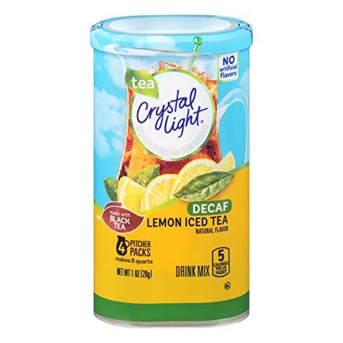 Crystal Light Decaf Lemon Iced Tea Drink Mix (4 Pitcher Packets)