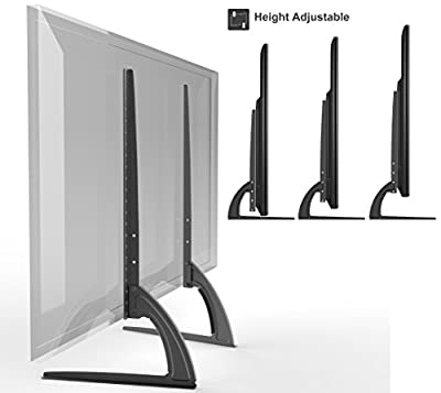 "HTA327 Universal Replacement Table Top TV Stand Legs for LED/LCD 37""-70"" Height Adjustable"