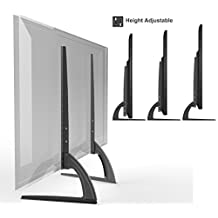 """HTA327 Universal Replacement Table Top TV Stand Legs for LED/LCD 37""""-70"""" Height Adjustable"""