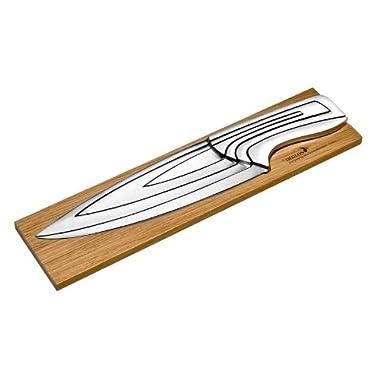 Deglon 4-Piece Oak Base Meeting Knives Set