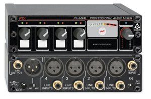 RDL RU-MX4L Professional 4 Channel Line Level Mixer - Microphone and line Output by RDL