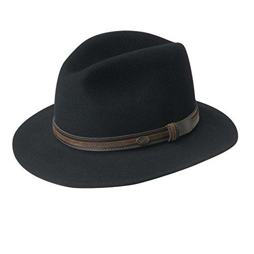 Bailey of Hollywood Men's Brandt, Black, (Suede Woven Hat)