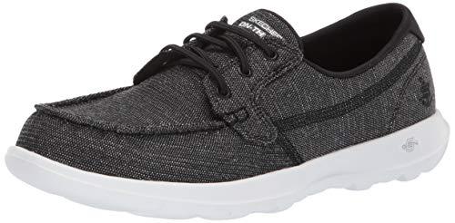 Skechers Women's GO Walk LITE-16422 Boat Shoe, Black, 8.5 M US