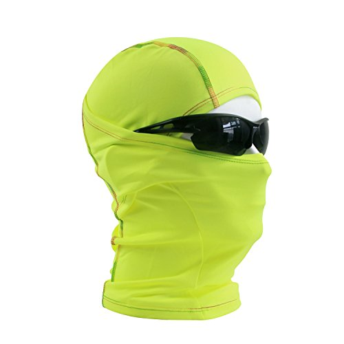 Motorcycle face mask, HikeValley Balaclava Ski Mask - Riding Mask - Fishing Mask - Breathable Hood (Green)