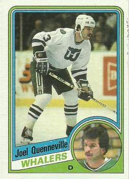 b507dd615 1984 Topps Regular (Hockey) card 60 Joel Quenneville of the Hartford  Whalers Grade