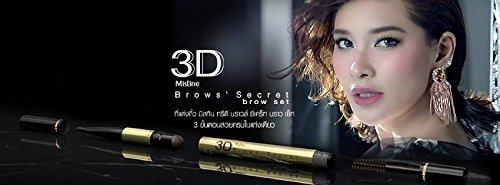 Mistine 3D Brows' Secret Brow Pencil Set 3 in 1 (Pencil, Shadow, Mascara), No.02 Light Brown