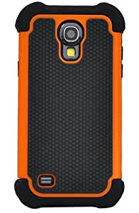 Huaxia Datacom Dual Layer Armored Hybrid Cover Case with Inner Soft Case and Hard Outter Shell for Samsung Galaxy S4 Mini i9190 (not for Galaxy S4) - Orange / Black