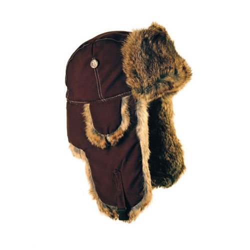 Mad Bomber Cold Weather Aviator Pilots Bomber Hat Chocolate with Brown Rabbit Fur, Medium (Bomber Chocolate)