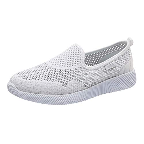 Goddessvan Women's Lightweight Walking Athletic Shoes Breathable Mesh Sneakers Casual Running Shoes White