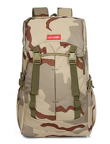 HWB  2 L sac à dos Camping & Randonnée Extérieur Multifonctionnel Kaki Nylon Other three sand Couleur -