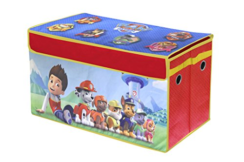 Paw Patrol Kids Toy Organizer Bin Children S Storage Box: Nickelodeon Paw Patrol Collapsible Storage Trunk