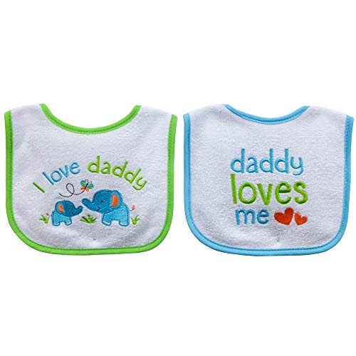 (Neat Solutions 2 Piece I Love Daddy/Daddy Loves Me Bib)