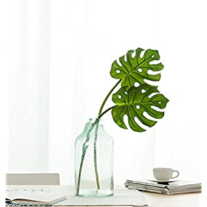 HNXZL 2 Pcs Artificial Monstera Plant Tropical palm Leaf Fake Flowers for Living Room Table Wedding Party Home Decorations 71