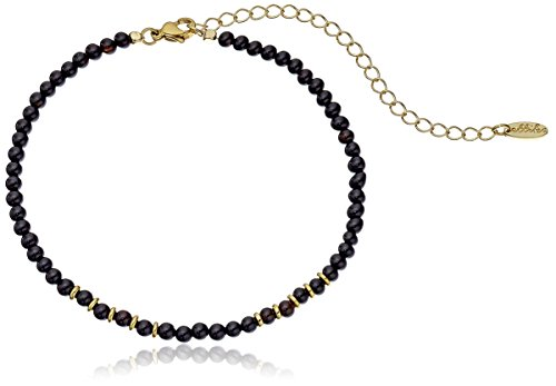 Ettika Still Surprise You Onyx and Gold Choker Necklace, 10.5
