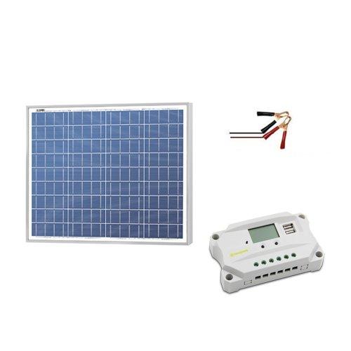 - Newpowa 50w Watt 12v Solar Panel + PWM 10A 12V Charge Controller USB Regulator