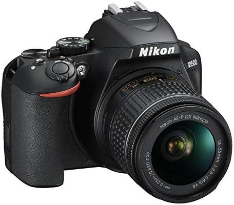 Nikon D3500 Fotocamera Reflex Digitale con Obiettivo Nikkor AF-P 18-55, F/3.5-5.6G VR DX, 24.2 Megapixel, LCD 3″, SD da 16 GB 300x Premium Lexar, Nero [Nital Card: 4 Anni di Garanzia]