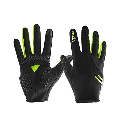 High Elastic Breathable Long Finger Touch Screen Gloves Bicycle Riding Gloves Green X-Large Gloves ()