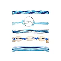 17KM Wave Shell Braided Bracelet Set Handmade Rope Friendship Bracelets Fashoin Charm Jewelry for Women