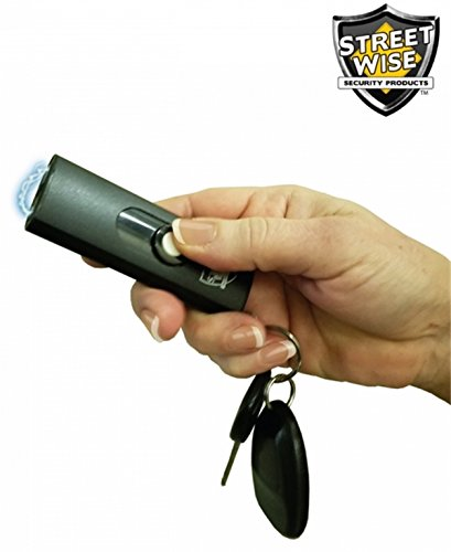 Diamondback Streetwise USB 22,000,000 Keychain Rechargeable Stun Gun Key Chain FREE Survival Whistle and Flashlight (Black)