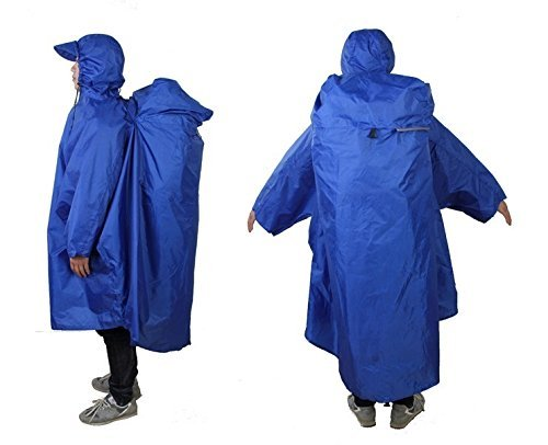 Bluefield Lightweight Backpack Poncho (Sapphire Blue) - SPECIAL CYBER MONDAY PRICING!