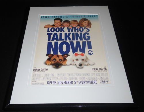 Look Who's Talking Now 1993 Framed 11x14 ORIGINAL Vintage Advertisement Travolta