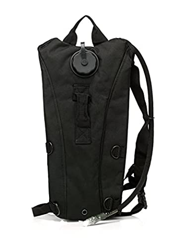 econoLED Us Army 3l Hydration Water Backpack Black+Survival Bracelet US Seller - Airsoft Hydration Pack