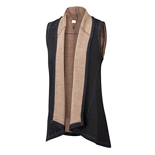 Lightweight Vest Ibex (Ibex Women s Dyad Shawl Vest Black Camel M)