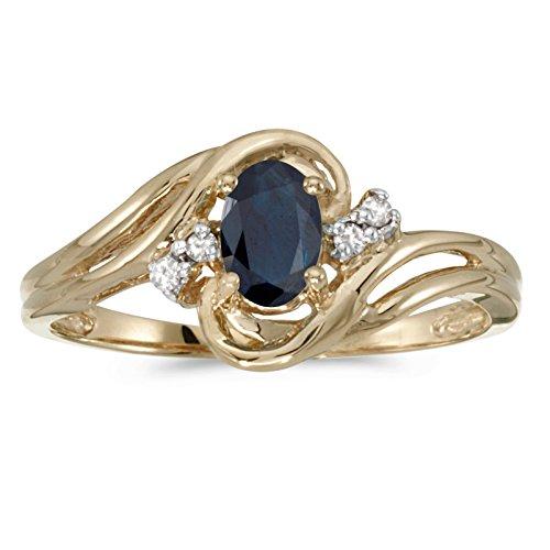 Diamond & Sapphire Bypass Ring - 5