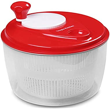 Salad-Spinner Salad-Tosser Vegetable-Dryer, Easy Spin , 5.5 Quart by Utopia Kitchen