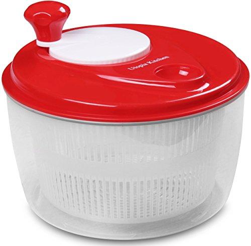 Salad-Spinner Salad-Tosser Vegetable-Dryer, Easy Spin, 5.5 Quart by Utopia Kitchen