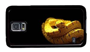 Hipster Samsung Galaxy S5 Case funny yellow snake PC Black for Samsung S5