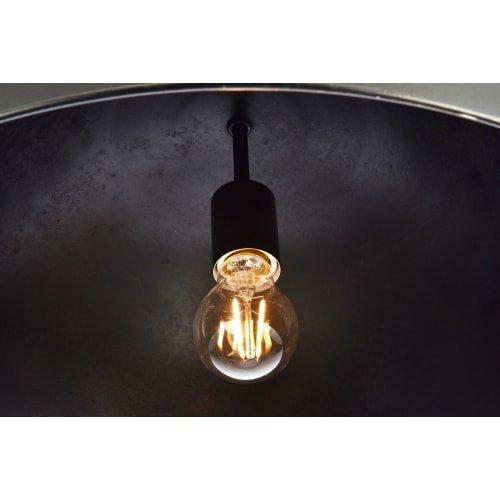 Elegant Lighting LD6013D20 Merce Single Light 20'' Wide Pendant with an Aluminum, Vintage Black