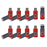 Enfain 10 Pack 32GB USB Flash Drive Pen Key Red