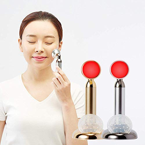 ✨K-Beauty LED Facial Massager - Red Light Therapy Lamp & Face Massage Beauty Tool for Anti-Aging Treatment - Reduces Wrinkles, Acne - Toning & Tightening Device for Rejuvenated, Lifted Skin