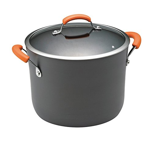 Pemberly Row Nonstick Stockpot in Gray and Orange