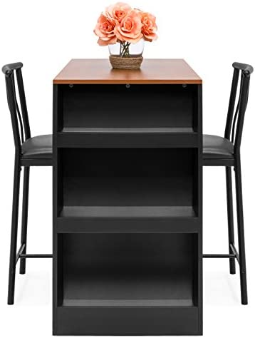 home, kitchen, furniture, kitchen, dining room furniture,  table, chair sets 5 discount Best Choice Products 36-Inch Wooden Metal Kitchen deals