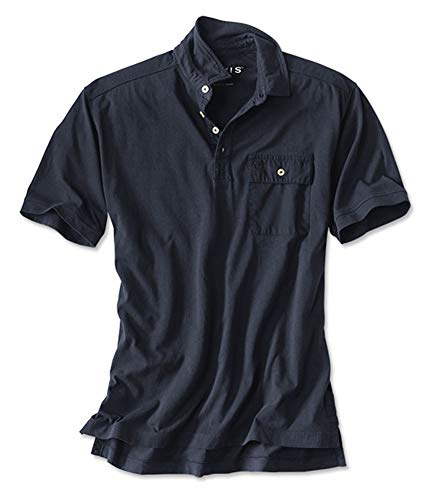 Orvis Men's Short-Sleeved Safari Polo, Navy, Xx Large