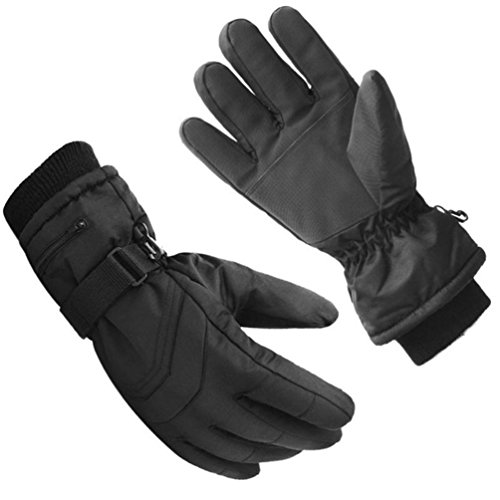 Price comparison product image Haotfire Ski Glove|Windproof & Water Resistant| Deerskin Palm & Polar Fleece for Driving Riding Cycling - Warm Hand in Cold Weather- Men/Women