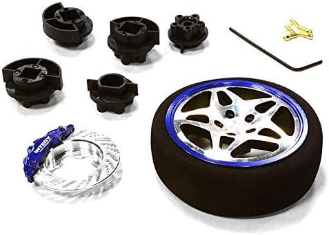 Integy RC Model Hop-ups C26406GUNBLUE Dual 5 Spoke Steering Whee