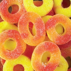 Trolli Gummi Peach Rings, 4lb Bag
