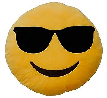 magasiner pour le meilleur prix officiel vraiment pas cher Emoticonworld Coussin Smiley avec Lunettes de Soleil, 32 cm ...