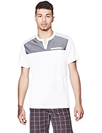 Guess Factory Men's Appian Slit-Neck Tee
